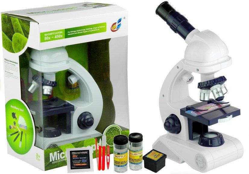 Mikroskop für kind zubehör 80x 200x 450x lichtspiegel flaschen set