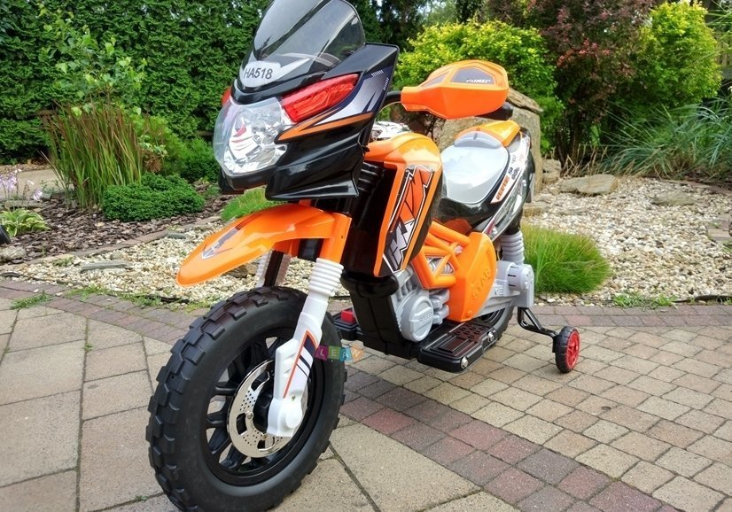 motorrad elektromotorrad f r kinder ha518 2x35w orange. Black Bedroom Furniture Sets. Home Design Ideas