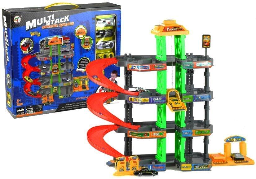 parkhaus garage spielzeugauto parkgarage parking 4 etagen tankstelle parkplatz spielzeug. Black Bedroom Furniture Sets. Home Design Ideas