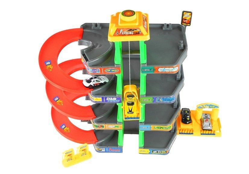Spielzeugautos Parkhaus Garage Spielzeugauto Parkgarage Parking 4 Etagen Tankstelle Parkplatz