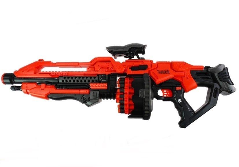 pistole 80cm 20 schaumstoffpatronen set spielzeug f r kinder ab 6 jahren spielzeug. Black Bedroom Furniture Sets. Home Design Ideas