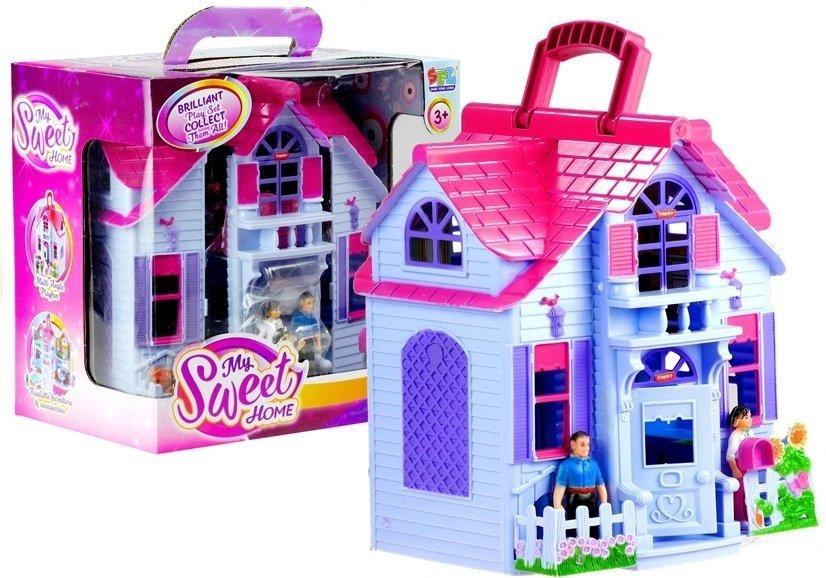 puppenhaus villa rosa spielzeug f r m dchen villa my home spielzeug set spielzeug puppen. Black Bedroom Furniture Sets. Home Design Ideas