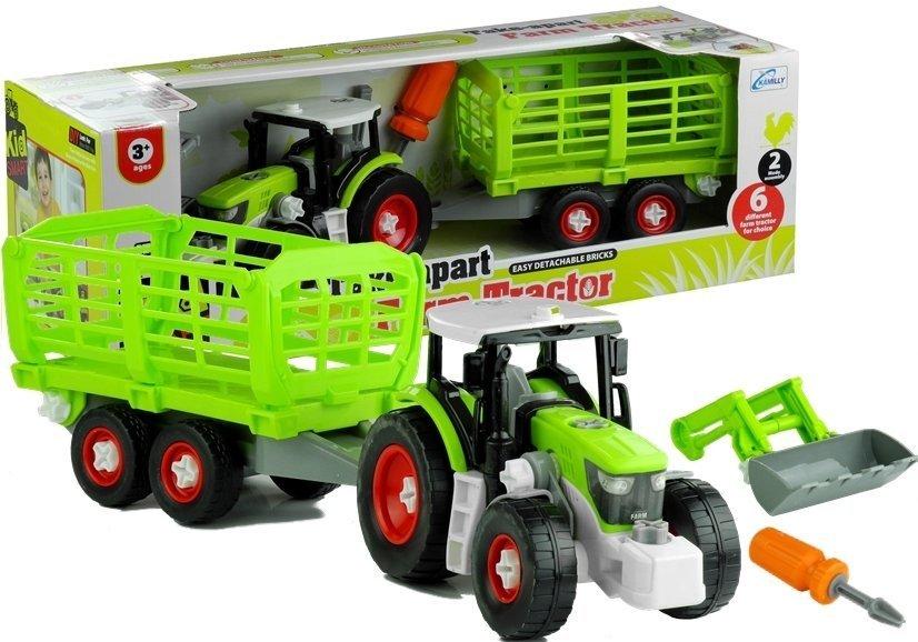 traktor mit anh nger 43 cm set werkzeuge landmaschine. Black Bedroom Furniture Sets. Home Design Ideas