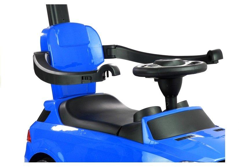 rutscherfahrzeug mit schiebestange blau 3288 schalter am. Black Bedroom Furniture Sets. Home Design Ideas