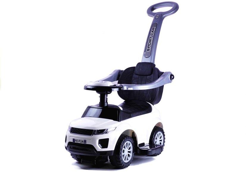 rutschauto mit der schiebestange 614w wei sport car auto. Black Bedroom Furniture Sets. Home Design Ideas