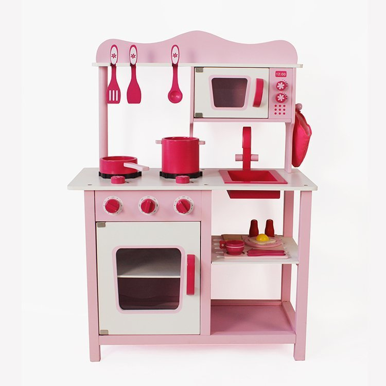 spielk che holz zubeh r pfanne gabel messer tasse. Black Bedroom Furniture Sets. Home Design Ideas