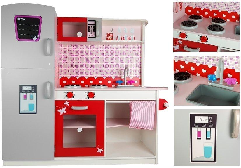 spielk che aus holz k hlschrank mikrowelle sp lbecken ofen schrank spielzeug holzspielzeug. Black Bedroom Furniture Sets. Home Design Ideas