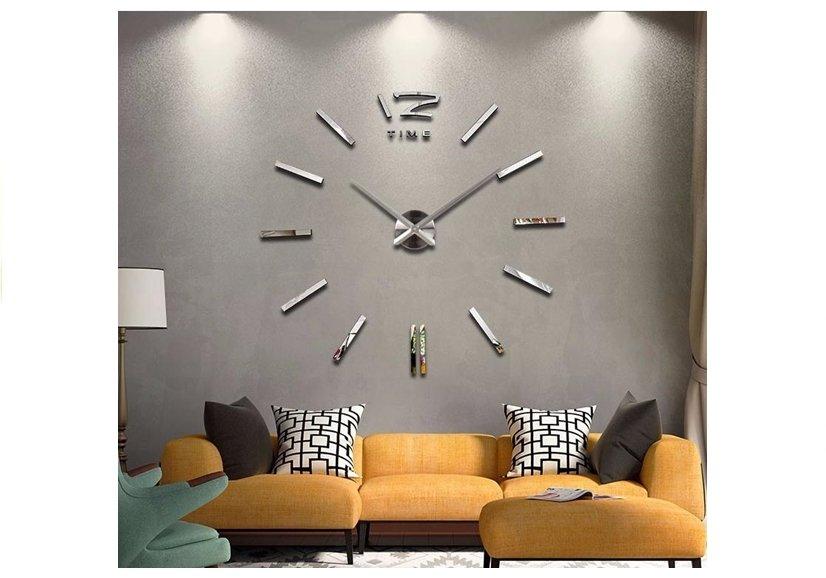 wanduhr riesen designer dekoration wandtatoo xxl 3d aufkleber spielzeug lernspielzeug. Black Bedroom Furniture Sets. Home Design Ideas