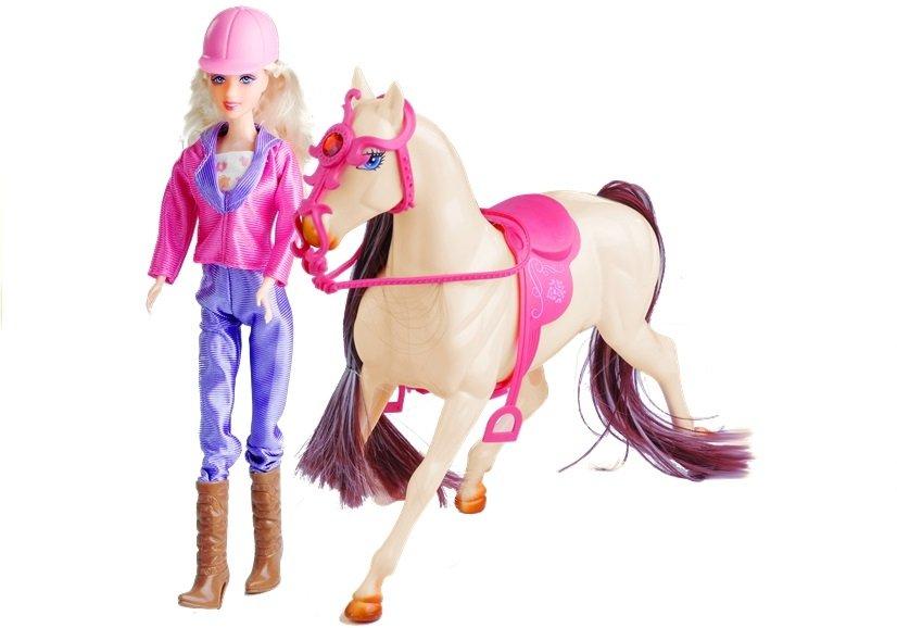 puppe mit pferd umfangreiches set f r m dchen spielzeug pony wei spielzeug puppen. Black Bedroom Furniture Sets. Home Design Ideas