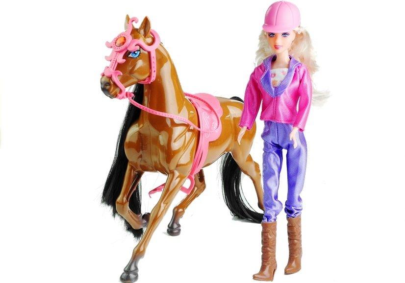 puppe mit pferd umfangreiches set f r m dchen spielzeug pony spielzeug puppen puppenwagen. Black Bedroom Furniture Sets. Home Design Ideas